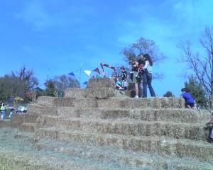 Hay bale slide Deanna Rose Overland Park KS