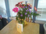 Gerbera daisies and card from Ranchview Floral